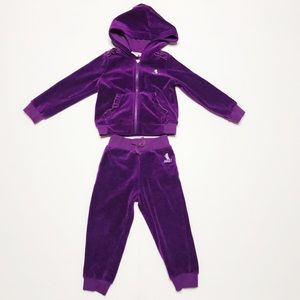 Juicy Couture Purple Matching Track Suit